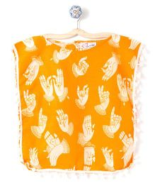 M'andy Hands Print Kaftan - Yellow