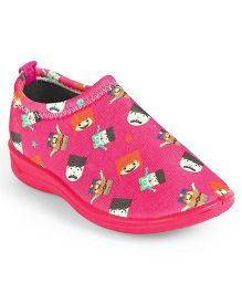 Footfun Slip On Casual Shoes - Pink