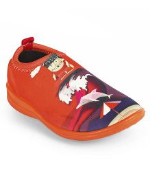 Footfun Slip On Casual Shoes - Orange