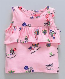 Little Kangaroos Sleeveless Top Floral Print - Pink