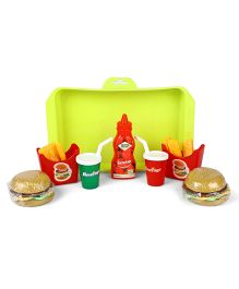 Play Food Set With Tray Multicolor - Pack of 7