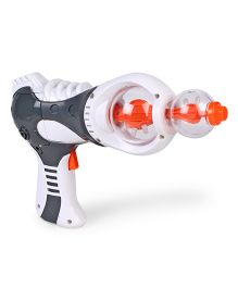 Toy Gun With Light White & Grey - Length 24 cm