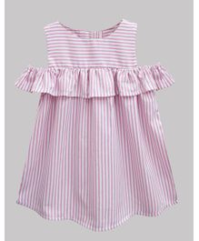 A.T.U.N Stripe Lucy Dress  - Pink