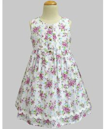 A.T.U.N Iris Bloom Penelope Dress - White