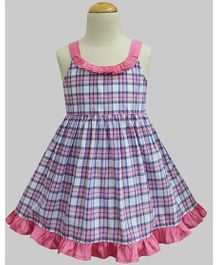 A.T.U.N Evening Mist Tartan Julie Dress - Pink