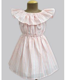 A.T.U.N Cantaloupe Stripe Celia Dress - Peach
