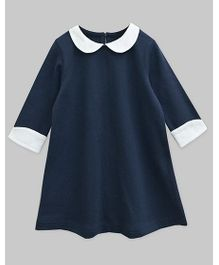 A.T.U.N Peter Pan Collar Charlotte Dress - Navy Blue