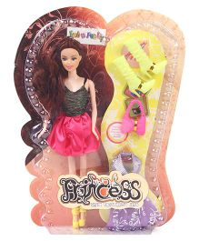 Princess Doll With Accessories Light Red - Height 28.5 cm