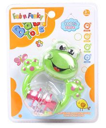 Froggy Shape Baby Rattle - Green