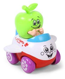 Aeroplane Toy With Apple Pilot  - Green White