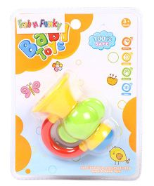 Baby Twist & Turn Rattle Toy - Yellow Red