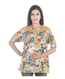 9teenAGAIN Crepe Maternity Top - Multicolor
