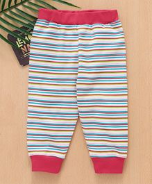 Babyhug Full Length Lounge Pant Stripes Print - Multicolour