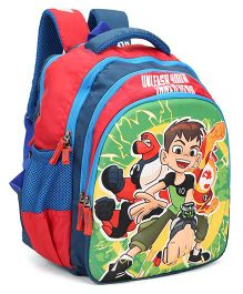 Ben 10 School Bag Red Blue - Height 14 inches