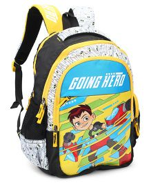 Ben 10 School Bag White Yellow - Height 16 inches