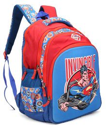 DC Comics Superman School Bag Red Blue - Height 18 inches