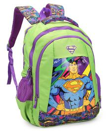 DC Comics Superman School Bag Green - Height 18 inches