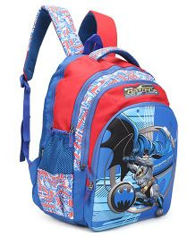 DC Comics Batman School Bag Blue Red - Height 18 inches