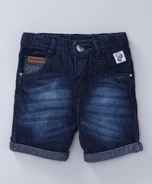 Babyoye Solid Denim Shorts - Blue