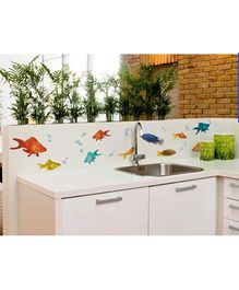 Home Decor Line Wall Decor Fishes - 2 Sheets