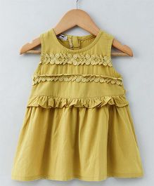 Superfie Sleeveless Ruffle Dress - Mustard