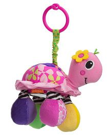 Infantino Sparkle Topsy Turtle Mirror Pal Rattle Toy - Pink