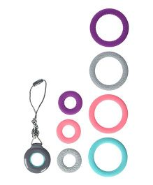 Infantino Chewy Teething Pendant & Bracelets Set Multicolour - 9 Pieces