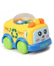 Garbage Truck Baby Wind Up Toy - Yellow