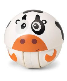 Cow Face Baby Rattle Toy - Off White