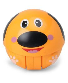 Dog Face Baby Rattle Toy - Orange