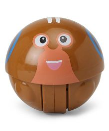 Snail Face Baby Rattle Toy - Brown