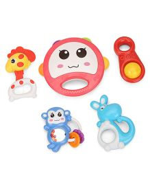 Baby Rattle Set Pack of 5 (Color May Vary)