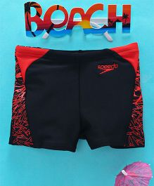 Speedo Printed Swimming Trunks - Black Red