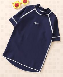 Speedo Half Raglan Sleeves Sun Top - Navy Blue