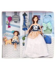 Doll Set With Accessories Multicolor - Big Doll Height 31 cm