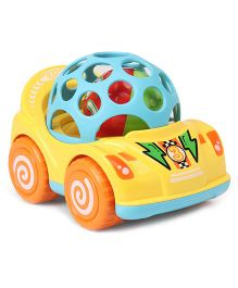 Mini Racing Car - Yellow & Multi Colour