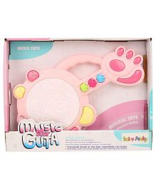 Animal Face Print Guitar Toy With Music & Light (Color May Vary)