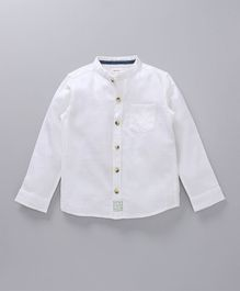 Babyoye Solid Colour Full Sleeves Shirt - White
