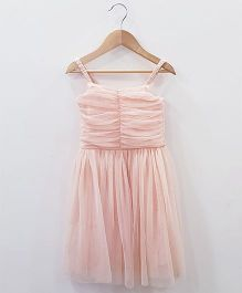 Aww Hunnie Net Design Dress - Pink