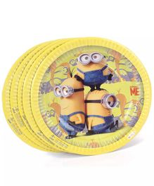 Funcart Minions Theme Paper Plate - Pack of 10