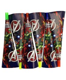 Funcart Avengers Party Hooter Pack of 6 - Multicolour