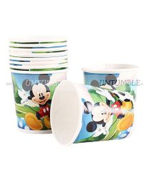 Funcart Mickey Mouse Paper Cups Multicolor Pack Of 10 - 200 ml