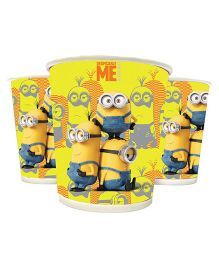 Funcart Minions Paper Cups Yellow Pack Of 10 - 200 ml