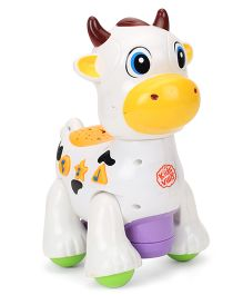 Imagician Playthings Kids Villa Double Fun Playmate Cow Musical Toy - White