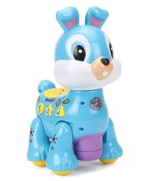 Imagician Playthings Kids Villa Double Fun Playmate Bunny Musical Toy -  Blue