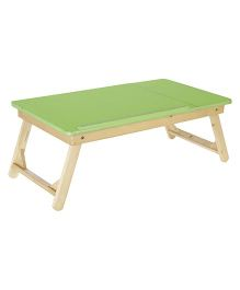 NHR Multipurpose Foldable Wooden Laptop Table With Side Mouse Table - Green