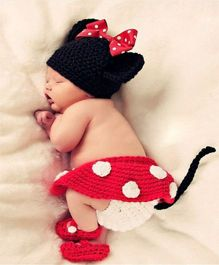 Babymoon Minnie Mouse Designer Clothing Set - Red Black
