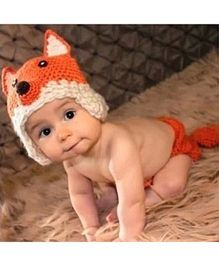 Babymoon Fox Designer Cap & Nappy Cover - Orange