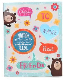 Archies Slam Book Bear Print - English