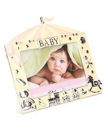 Archies Home Shape Photo Frame - Yellow Pink